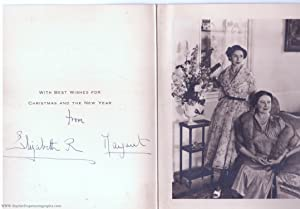 Fine christmas card signed by both, (The Queen Mother, 1900-2002, Queen of George VI) & her young...