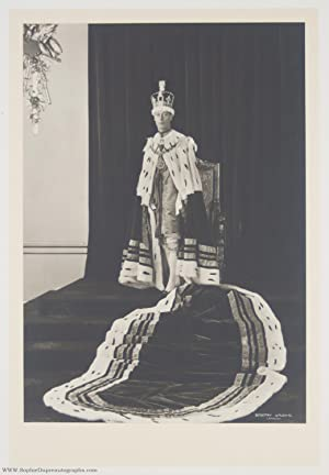 Superb pair of unsigned Official Coronation Photos by Dorothy Wilding (1895-1952, King of England...
