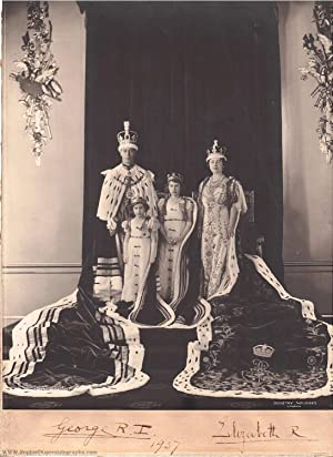 Superb Coronation Photo by Dorothy Wilding signed by the King and Queen and dated by the King, on...