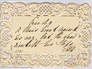 Autograph Quotation from the Book of Proverbs, (of Saxe-Meiningen, 1792-1849, Queen of William IV...