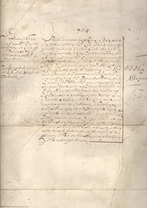 Order to the Treasury signed 'Albemarle' and 'Ashley', (Sir George Monk, 1608-1670, Restorer of C...