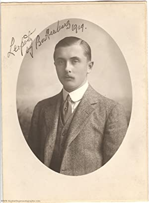 Fine photograph signed (Lord Leopold, 1889-1922, son of Prince Henry of Battenberg and Princess B...