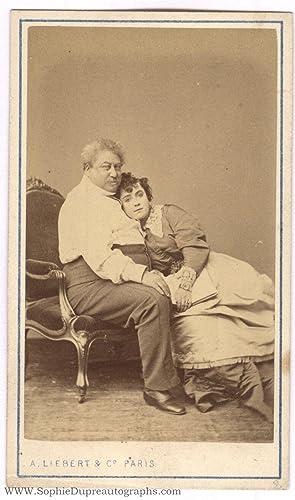 Unsigned carte de visite photo by A. Liebert & Co (Alexandre, père, 1802-1870, French novelist ...