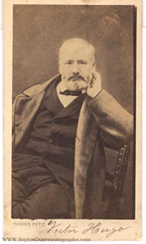 Unsigned carte de visite photo by Pierre Petit (Victor, 1802-1885, French Poet and Author)]: HUGO