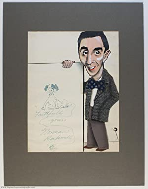 Excellent collage cartoon portrait in colour, signed: ROCKWELL