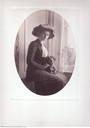 Charming portrait photograph by T.H. Voigt of Frankfürt and Homburg, (1892-1980, only daughter of...