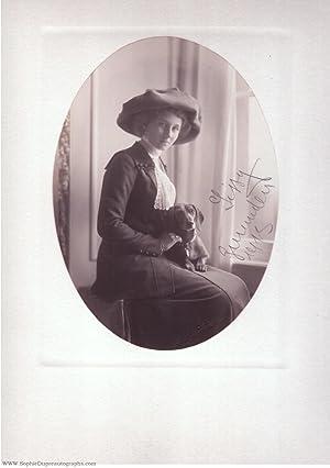 Charming portrait photograph by T.H. Voigt of: VIKTORIA LUISE