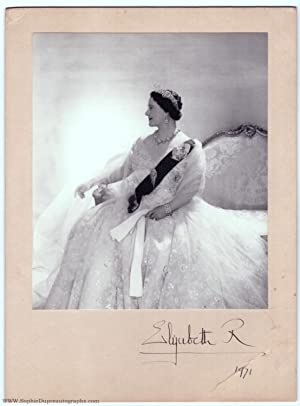 Beautiful Portrait Photograph by CECIL BEATON, (The Queen Mother, 1900-2002, Queen of George VI)
