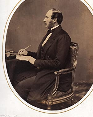 Very Fine unsigned Portrait Photo by Mayall, (1819-1861, Prince Consort of Queen Victoria)]