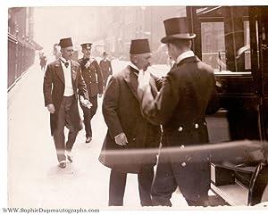 Press photo by London News Agency, unsigned,: ABBAS II HILMI