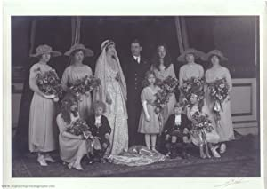 Excellent unsigned wedding photo by Alex Corbett (Princess of Connaught, 1886-1974, Lady Patricia...