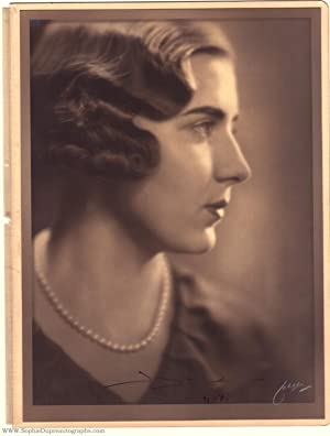 Fine formal portrait photo by Jaeger, signed and dated, (Victoria Sofia, 1910-1972, daughter of G...