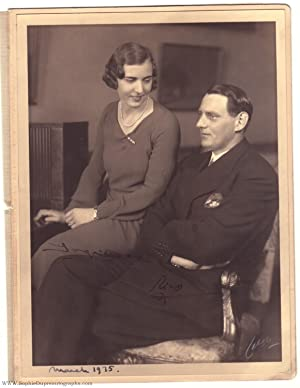 Exceptional portrait photo by Jaeger, signed by both and dated by the Princess, (1899-1972, King ...