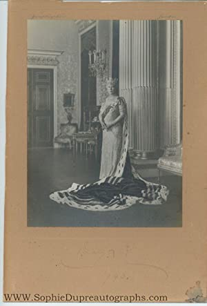 Photo by Hay Wrightson, signed and dated, (of Teck, 1867-1953, Queen of George V)
