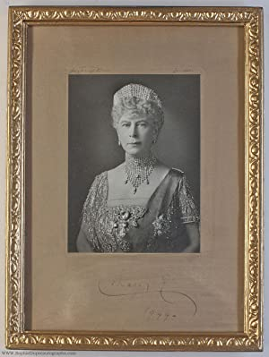 Fine photo by Hay Wrightson, signed and dated, (of Teck, 1867-1953, Queen of George V)