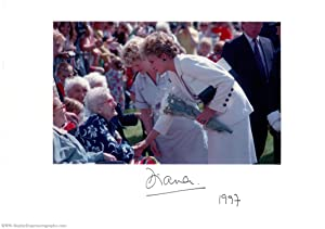 Fine coloured photo signed & dated on the mount, (Princess of Wales 1961-1997, ex-wife of Prince ...