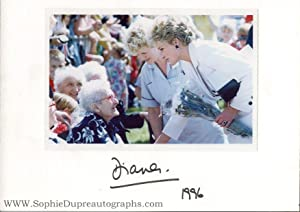 Fine coloured photo signed & dated on the mount, (Princess of Wales, 1961-1997, ex-wife of Prince...