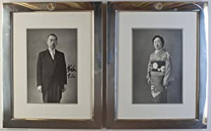 Superb pair of Presentation Portrait Photographs signed: HIROHITO