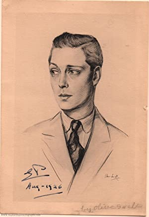 Unusual photograph of a drawing of the Prince of Wales by Olive Snell, (1894-1972, King of Great ...
