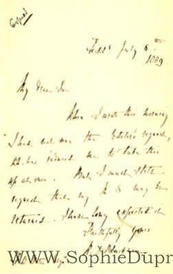 Autograph Letter Signed to R. W. Slater,: BLACKMORE