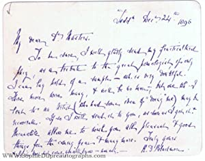 Autograph Letter Signed to Dr Masters (Richard: BLACKMORE