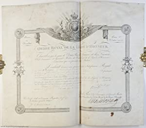 Certificate of appointment as Chevalier in the Legion of Honour, (1757-1836, King of France 1824-...
