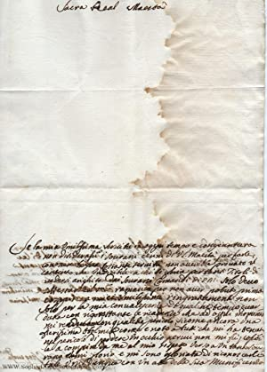Autograph Letter Signed and Subscribed, (Princess, 1686-1742, daughter of Vincenzo Gonzaga, 1634-...