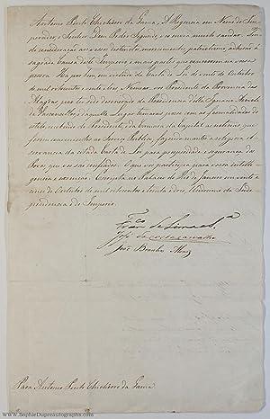 Document signed, in Portuguese with translation, (Francisco: LIMA E SILVA