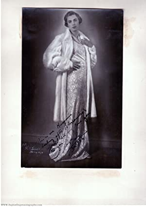 Fine portrait photograph, by Ghitta Carell, signed 'Baby', (Infanta of Spain, 1909-2002, Princess...