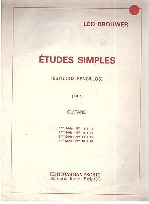Etudes simples (Estudios sencillos) pour Guitare 3ème: Léo Brouwer