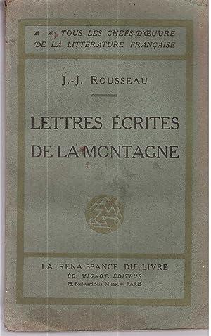 Lettres écrites de la montagne: Jean Jacques Rousseau