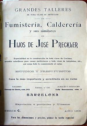 GRANDES TALLERES DE TODA CLASE DE ARTÍCULOS DE FUMISTERÍA, CALDERERÍA y sus ...
