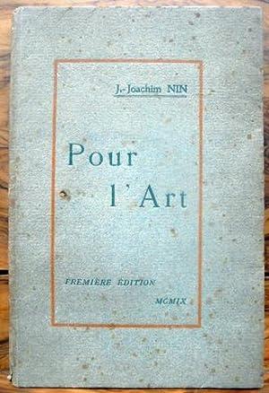 POUR L'ART.: NIN, J.Joachim.