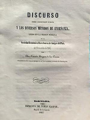 DISCURSO SOBRE INSTRUCCION PUBLICA Y LOS DIVERSOS: BERGNES DE LAS