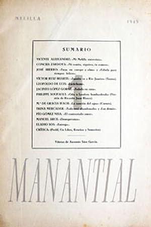 MANANTIAL. Cuadernos de poesía y crítica.: Revista.]