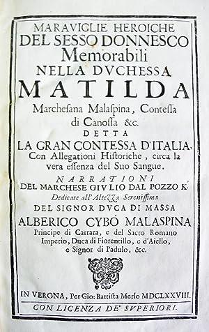 MARAVIGLIE HEROICHE DEL SESSO DONNESCO MEMORABILI NELLA: POZZO, marchese Giulio