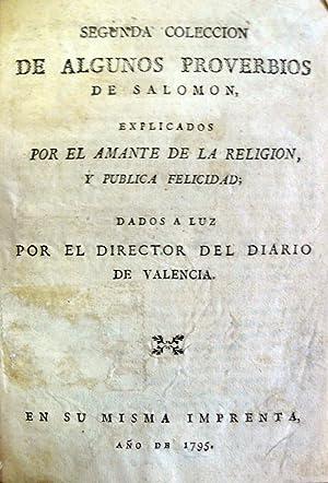 SEGUNDA COLECCION DE ALGUNOS PROVERBIOS DE SALOMON,: SANTO TOMÁS DE