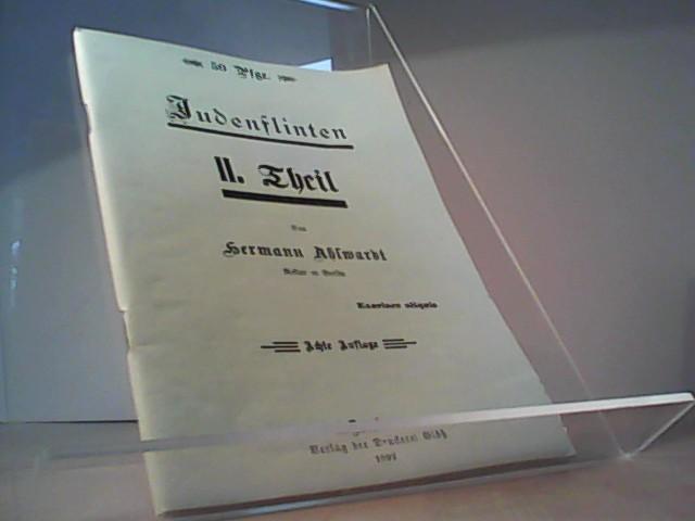 Judenflinten.: Ahlwardt, Hermann: