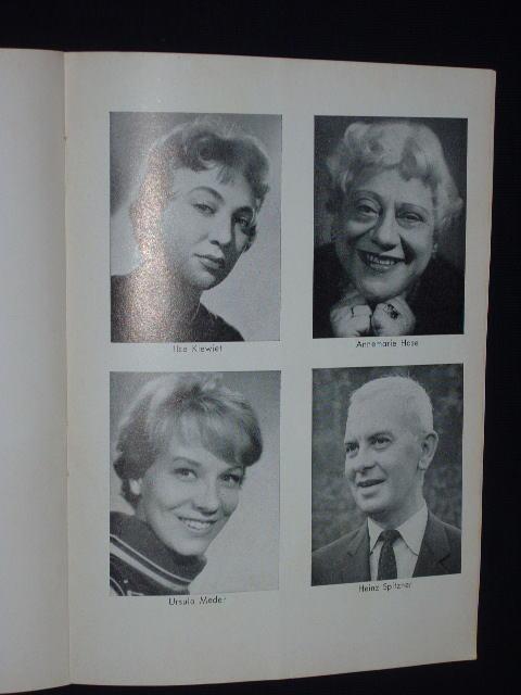 Programmheft Theater am Kurfürstendamm 1962. GEISTERKOMÖDIE von: Herausgegeben vom Theater