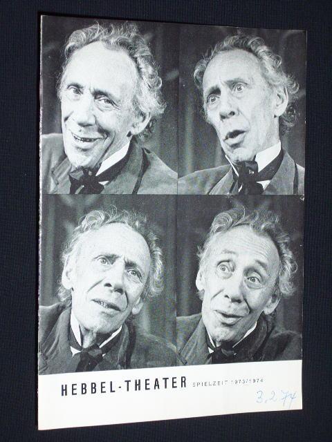 Programmheft 20 Hebbel-Theater 1973/74. DER RAUB DER: Hebbel-Theater, Leitung: Hela