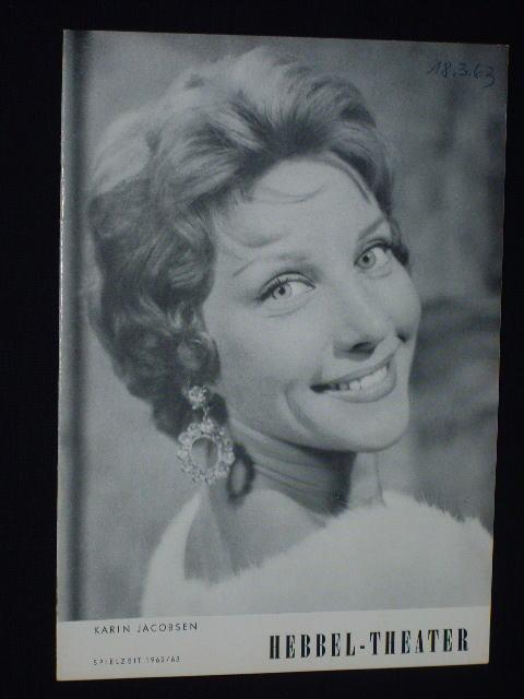 Programmheft Hebbel-Theater 1963. MRS. CHENEYS ENDE von: Herausgeber: Hebbel-Theater Berlin,