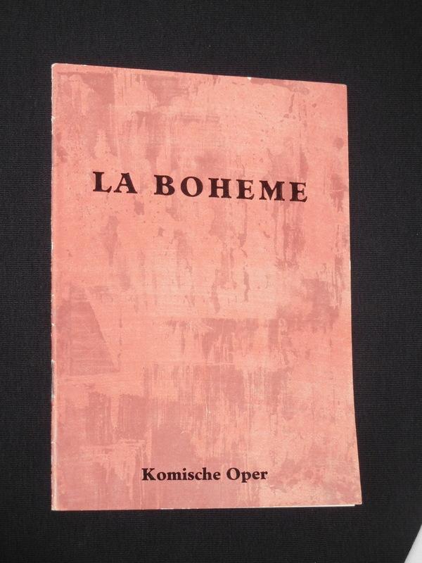 Programmheft Komische Oper Berlin 1959 La Boheme Nach Murger Von