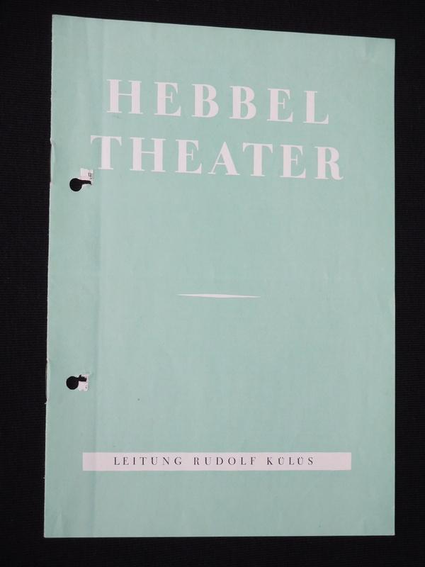 Programmheft Hebbel-Theater Berlin um 1965. KRACH IM: Hebbel-Theater Berlin, Leitung: