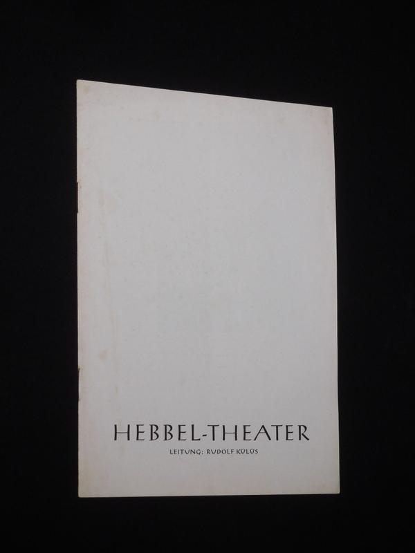 Programmheft Hebbel-Theater Berlin um 1965. DIE SCHMETTERLINGSSCHLACHT: Hebbel-Theater Berlin, Leitung: