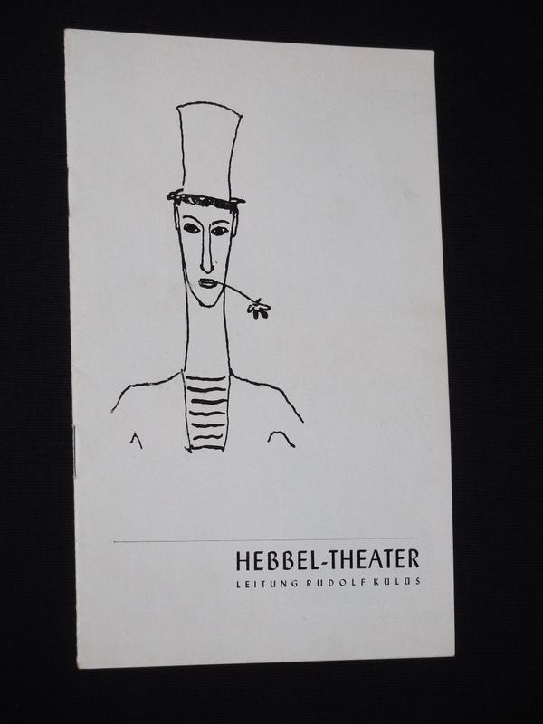 Programmheft Gastspiel Marcel Marceau mit seiner Compagnie: Hebbel-Theater, Leitung: Rudolf