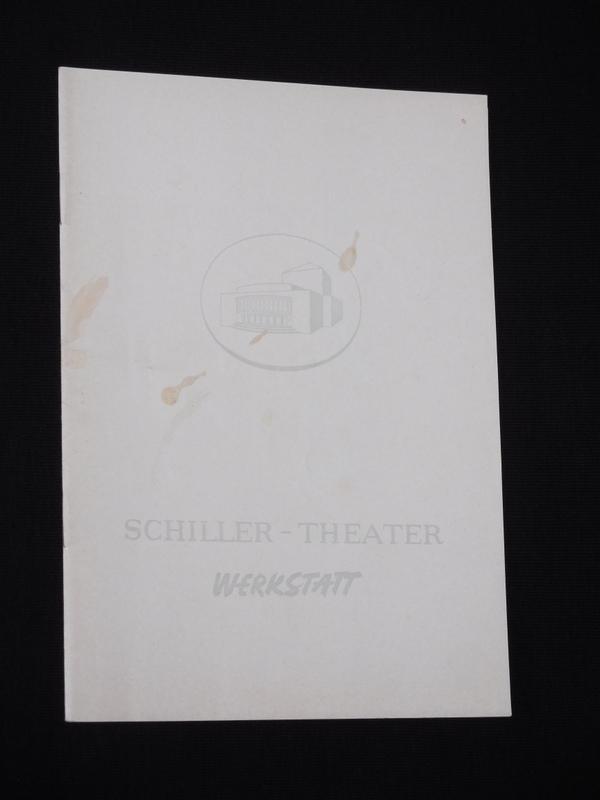 Programmheft 111 Schiller-Theater Werkstatt 1961/62. DER AMERIKANISCHE: Herausgegeben von der