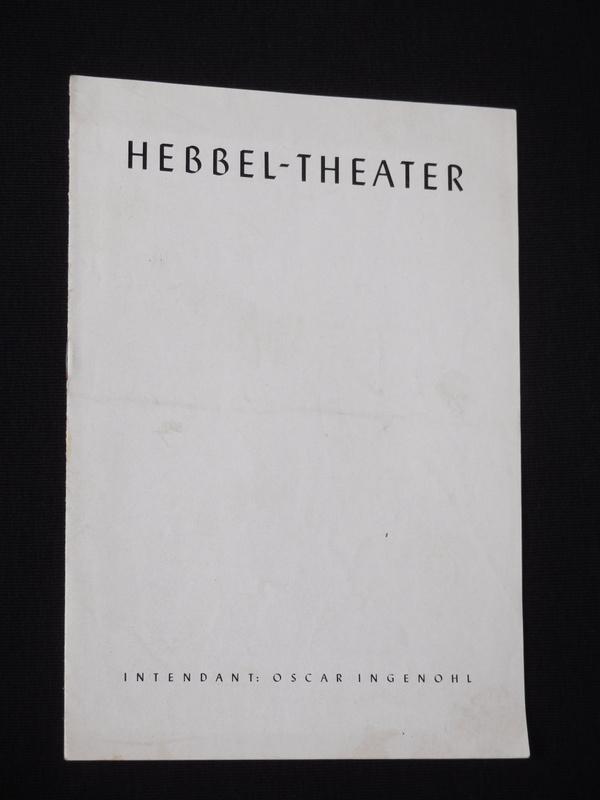 Programmheft Hebbel-Theater Berlin 1950. DER TOD EINES: Hebbel-Theater Berlin, Intendant: