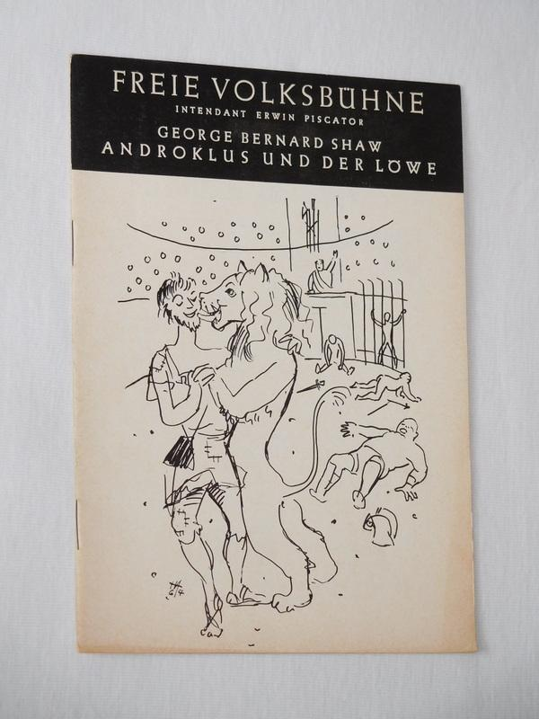 Programmheft 2 Freie Volksbühne Berlin 1964/65. ANDROKLUS: Freie Volksbühne Berlin,