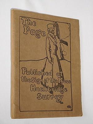 The Page. A Specimen Copy 1899: Edward Gordon Craig