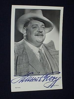 Künstlerpostkarte Heinrich George mit Signaturstempel, um 1935: Heinrich George